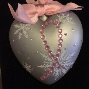 Avon Breast Cancer Heart Shaped Ornament.